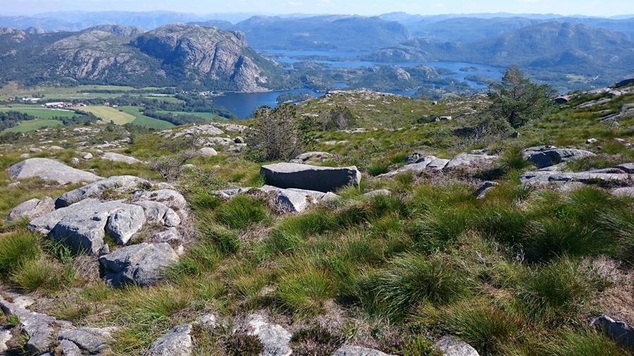 widok z gór dookoła Stavanger